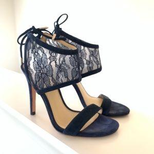 Navy blue lace heels size 5